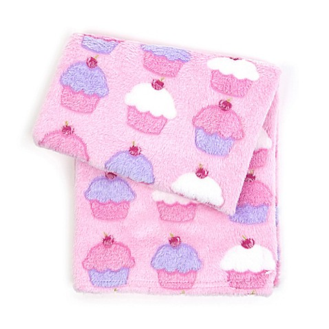 Tadpoles™ by Sleeping Partners 3D Cupcakes Jacquard Baby Blanket in Pink