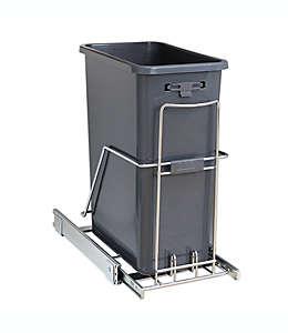 Bote de basura deslizante ORG™ Org Steel de 39.97 x 25.9 cm en cromo