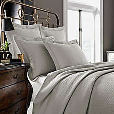 image of Kassatex Diamante Collection Coverlet in Flax