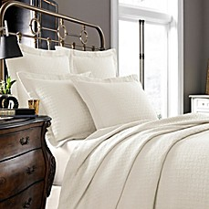 image of Kassatex Positano Collection Coverlet in Ivory