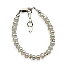 image of Cherished Moments Small Sterling Silver and Freshwater Pearl Victoria Bracelet