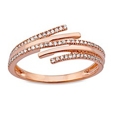 image of Violet and Sienna 14K Rose Gold .18 cttw Diamond Wrap Ring