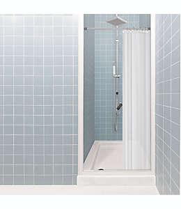 Forro para cortina de baño de PEVA  de 1.37 x 1.98 m color gris escarchado