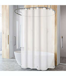 Forro para cortina de baño de PEVA  color blanco escarchado