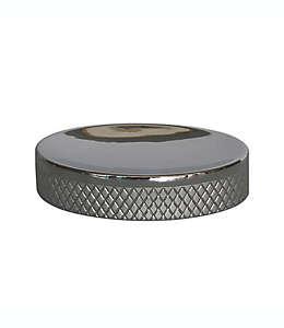 Jabonera de cerámica Lifestyle Home Gwyneth con acabado en cromo
