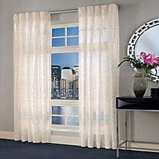 image of Designer's Select Maximus Sheer Inverted Pleat Window Curtain Panel