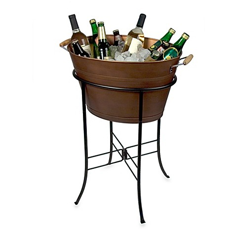 copper beverage estate tub stand main wfbd frontgate and