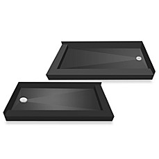 image of tile redi usa redi base right double curb shower pan with left