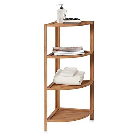 Ecostyles 4 Shelf Bamboo Corner Tower Bed Bath Amp Beyond
