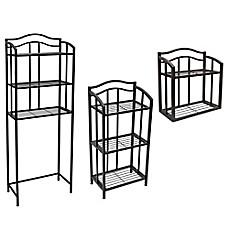 Bathroom & Shower Shelves | Towel Racks & Bar Shelves - Bed Bath ...