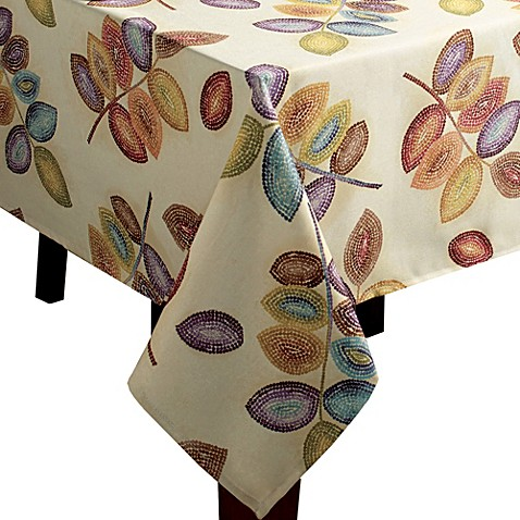 Croscill 174 Mosaic Leaves Tablecloth Bed Bath Amp Beyond