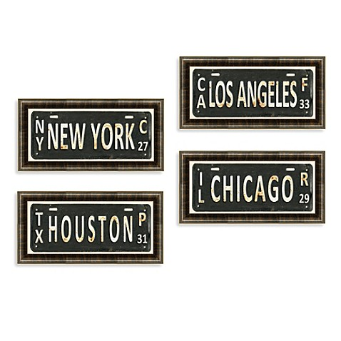 License Plate Wall Art Bed Bath Amp Beyond