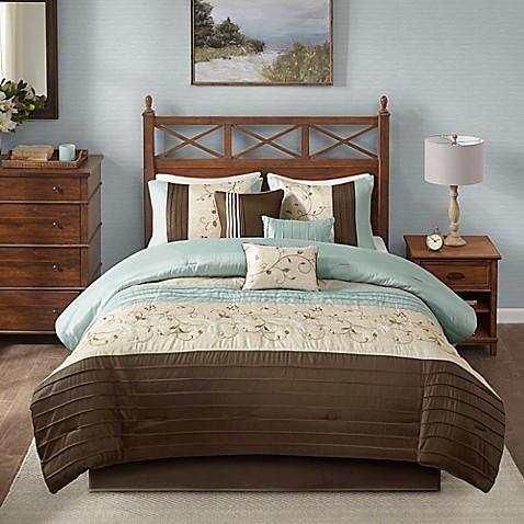 Madison Park Serene 7 Piece Comforter Set Bed Bath Beyond