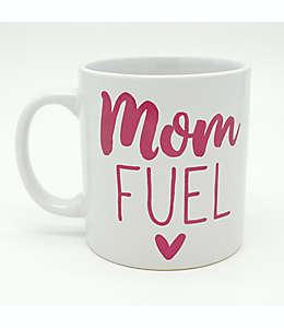 Taza de cerámica No Brand Assigned Mom Fuel color hueso