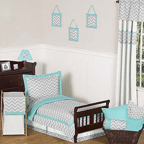 Sweet jojo designs zig zag 5 piece toddler comforter set for Zig zag bedroom ideas
