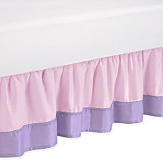image of Sweet Jojo Designs Butterfly Collection Bed Skirt in Pink/Purple