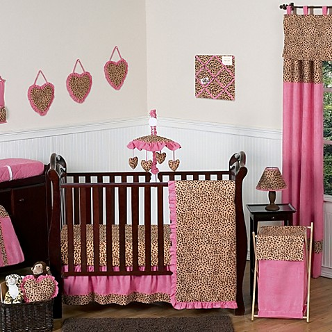 Sweet Jojo Designs Cheetah Girl 11 Piece Crib Bedding Set