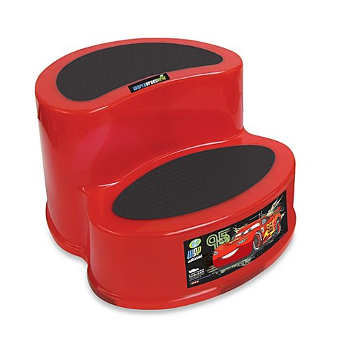 Ginsey Disney 174 Pixar Cars 2 Tier Step Stool Buybuy Baby