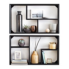 image of real simple wall unit set of 2 - Decorative Wall Shelves