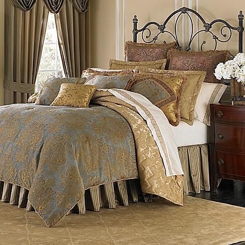michael amini victoria 4piece reversible comforter set bed bath u0026 beyond - Michael Amini