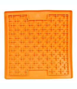 Tapete para alimentación lenta Hyper Pet™para mascota en forma de tapete de caucho en naranja