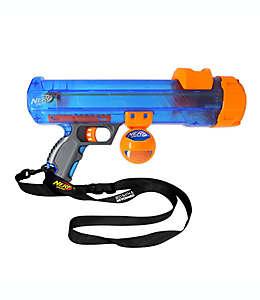 Lanzador de pelotas Nerf Dog para perro en forma de arma de plástico en azul