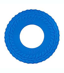 Juguete lanzable Nerf Dog para perro de plástico en azul