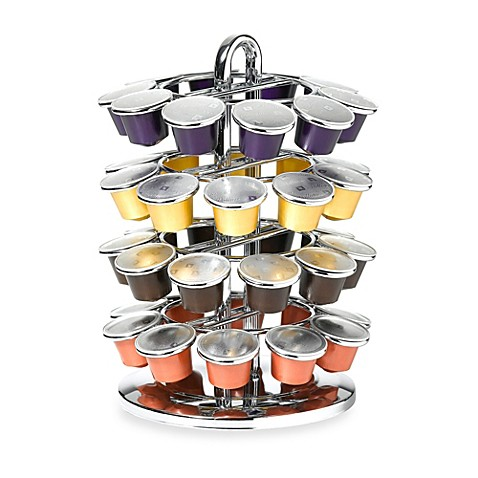 nifty nespresso capsule carousel in chrome bed bath beyond. Black Bedroom Furniture Sets. Home Design Ideas