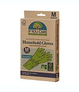 Guantes para hacer limpieza If You Care de Latex FSC en Verde medianos