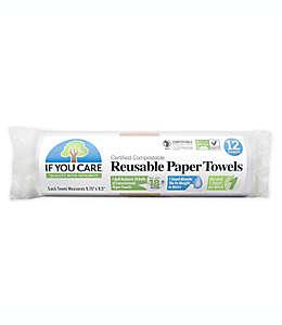 Toallas de papel convencional If You Care reusables color blanco