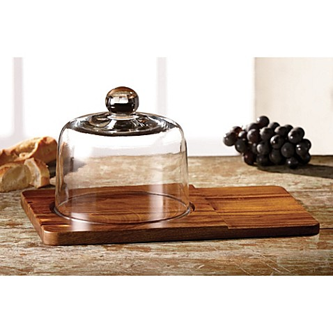 Madera Cheese Board With Glass Dome Set Bed Bath Amp Beyond