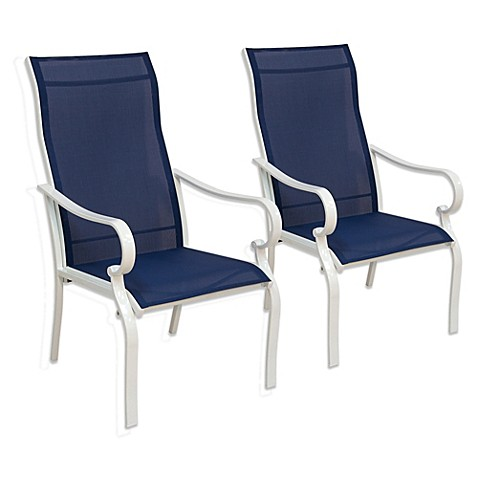 Hawthorne Oversized Sling Chairs In Blue Set Of 2 Bed