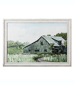 Cuadro decorativo Bee & Willow™ Home de un granero verde, 86.36 x 60.96 cm