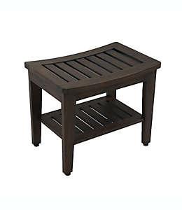 Banco de madera de teca para baño Haven™ color moca