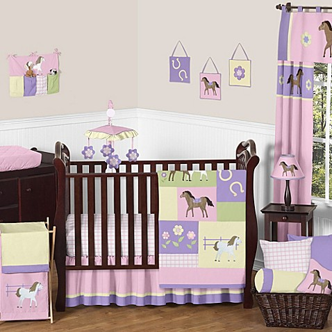 Sweet jojo designs pretty pony crib bedding collection bed bath