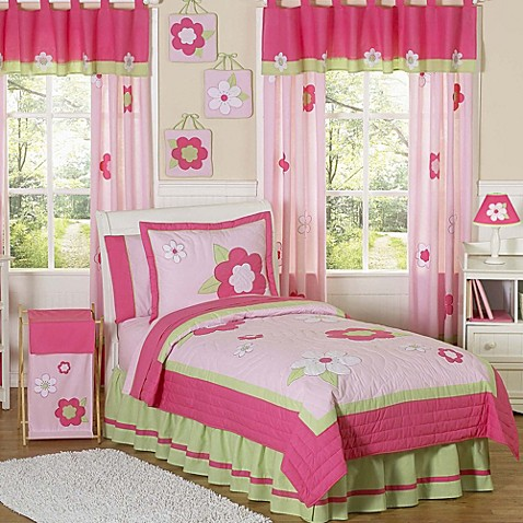 pink floral bedroom ideas sweet jojo designs flower bedding collection in pink green 16741
