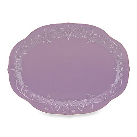 Lenox® French Perle 16-Inch Oval Platter in Violet