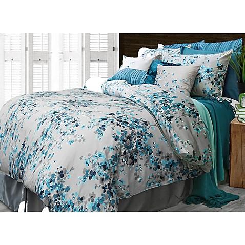 Hycroft spun silk european pillow sham in peacock blue for Silk sheets queen bed bath beyond