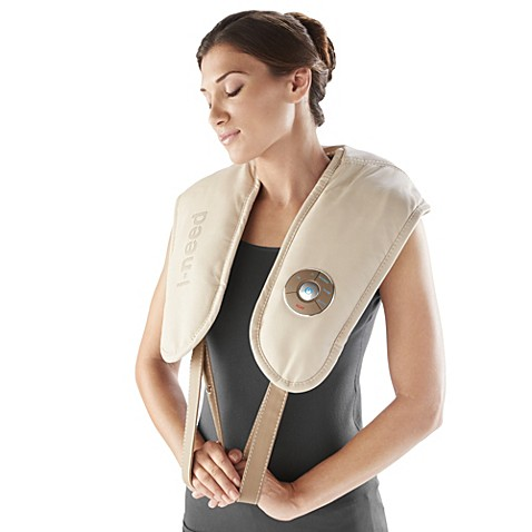 brookstone® ineed® neck and shoulder pro massager with heat - bed