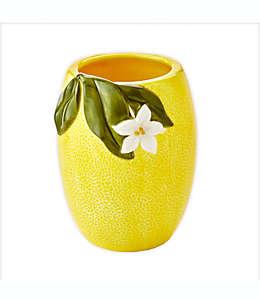 Vaso de cerámica Vern Yip by SKL Citrus Grove color amarillo
