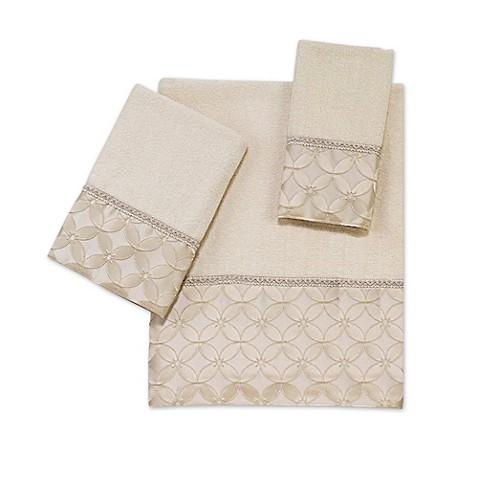 Avanti Floral Grid Bath Towel Collection Bed Bath Beyond