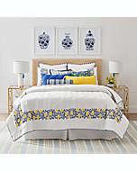 Set de colcha matrimonial/queen de algodón One Kings Lane™ Open House Wainscott color amarillo, 3 piezas