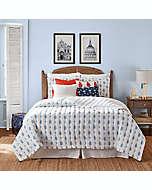 Set de colcha matrimonial/queen de algodón One Kings Lane™ Open House Westerly color azul, 3 piezas