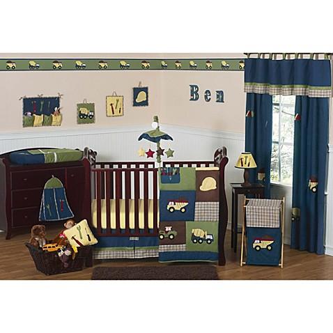 Sweet Jojo Designs Construction Zone 11 Piece Crib Bedding Set