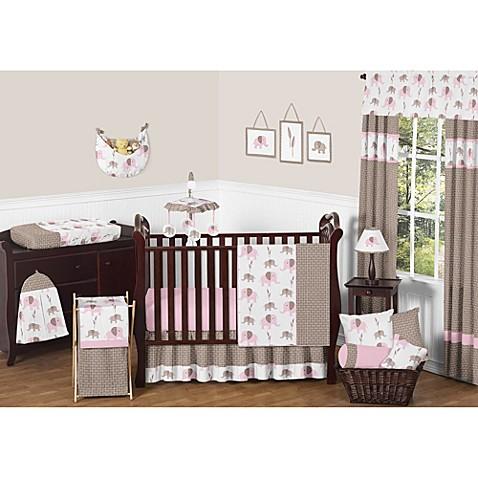 Sweet Jojo Designs Mod Elephant Crib Bedding Collection In