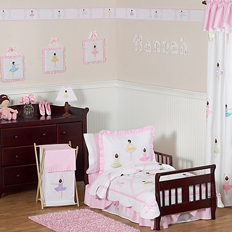 Sweet Jojo Designs Ballerina 5 Piece Toddler Bedding Set Bed Bath Beyond
