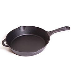 image of 8-Inch Pre-Seasoned Round Cast Iron Skillet in Black