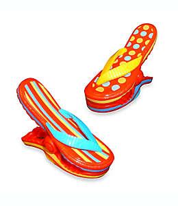 Pinzas para toalla de plástico Boca Clips® con forma de sandalias, 2 piezas