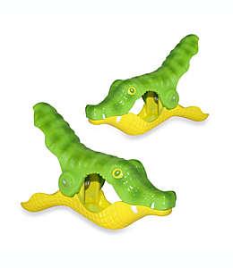 Pinzas para toalla de plástico Boca Clips® con forma de cocodrilo, 2 piezas