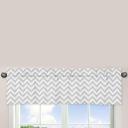 Sweet Jojo Designs Zig Zag Chevron Window Valance In Turquoise Grey Bed Bath Beyond